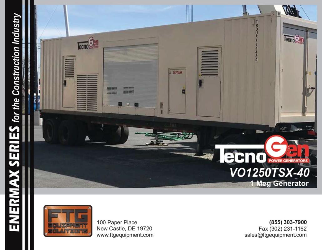 TecnoGen VO1250TSX-40 - 1 Meg Generator