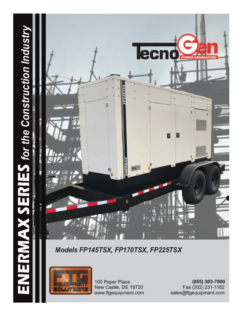 TecnoGen Models FP145TSX, FP170TSX, FP225TSX
