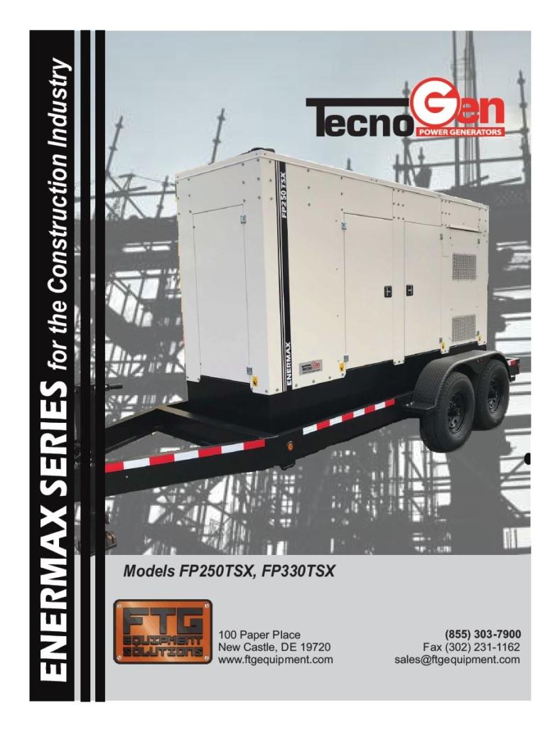 TecnoGen Models FP250TSX, FP330TSX