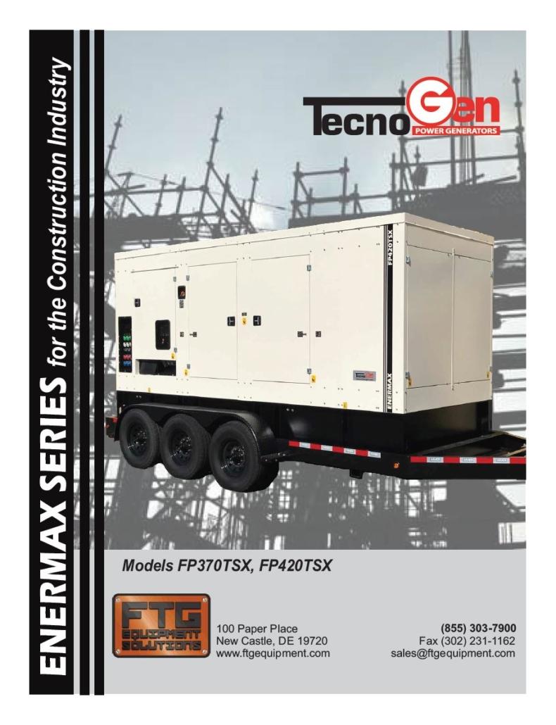 TecnoGen Models FP370TSX, FP420TSX