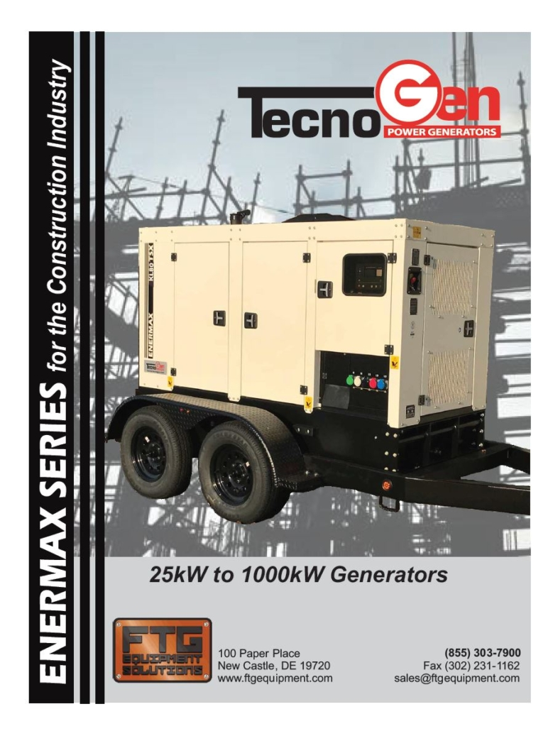 TecnoGen 25kW to 1000kW Generators